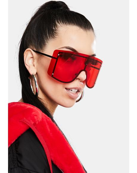 Cherry Big Dreams Oversized Sunglasses