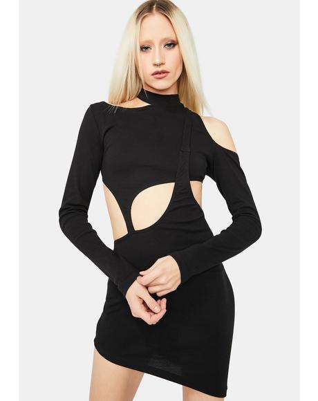 Kiss Me Goodbye Asymmetric Cutout Dress