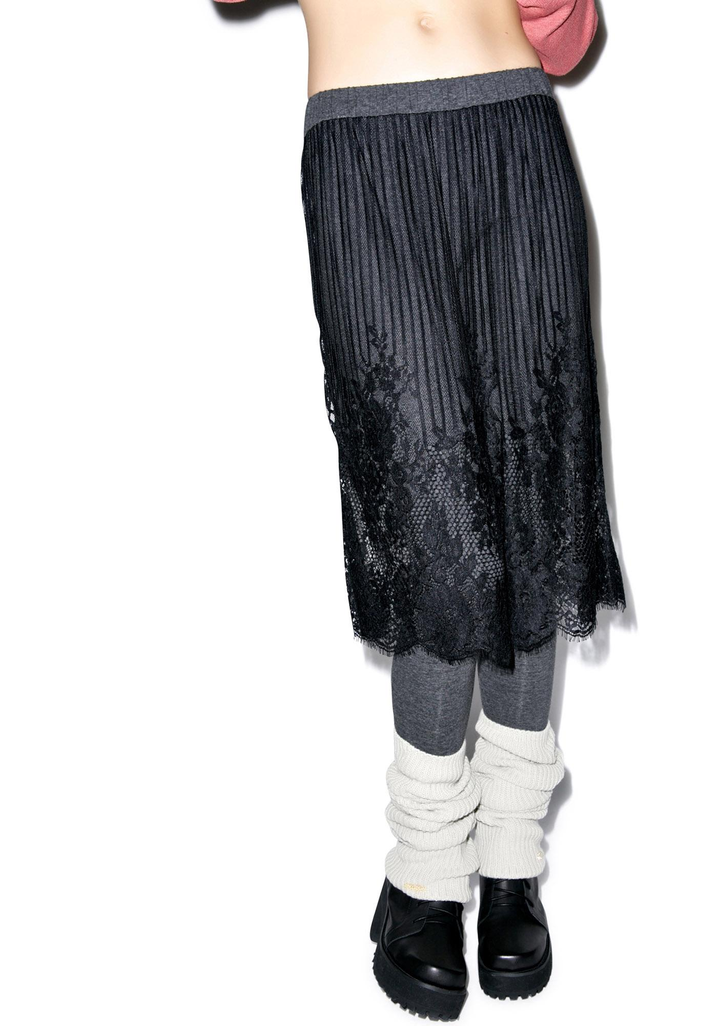 Black Swan Lace Layered Skirt