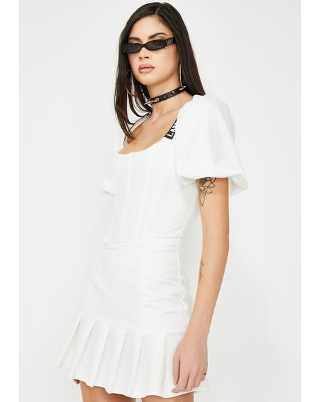 White Chelsey Mini Dress