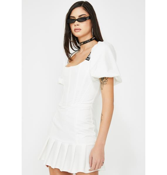 I AM GIA White Chelsey Mini Dress
