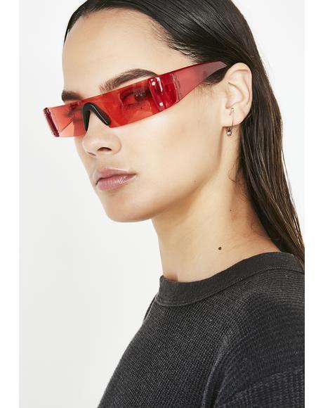 Lit Future Hustle Shield Sunglasses