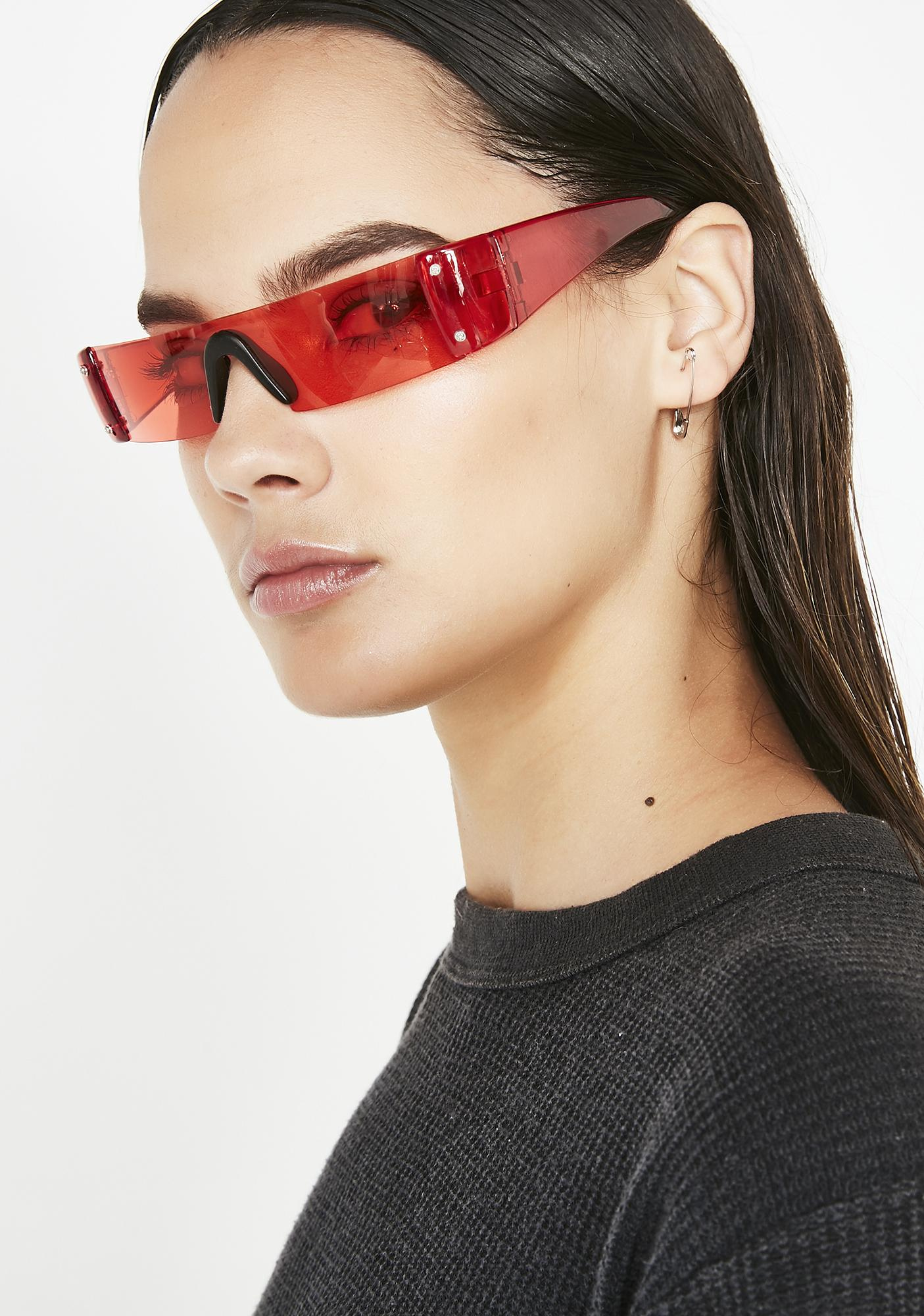 Lit Future Hustle Shield Sunglasses by Replay