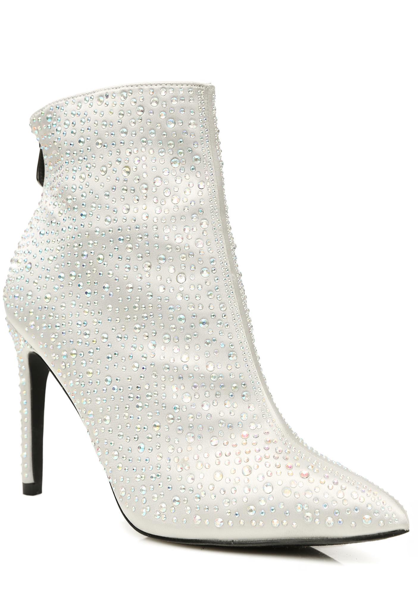 Silver Shine So Bright Rhinestone Boots