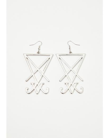 Sigil Of Lucifer Earrings