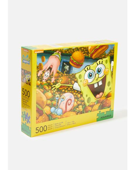 Spongebob Krabby Patty 500 Piece Puzzle