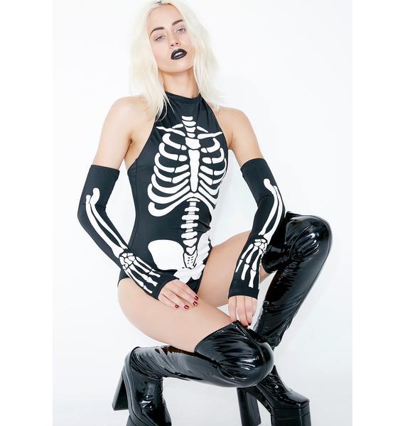 Dolls Kill Bone Chiller Bodysuit