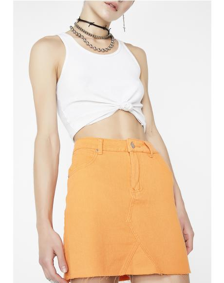 Toxic Hazard Mini Skirt