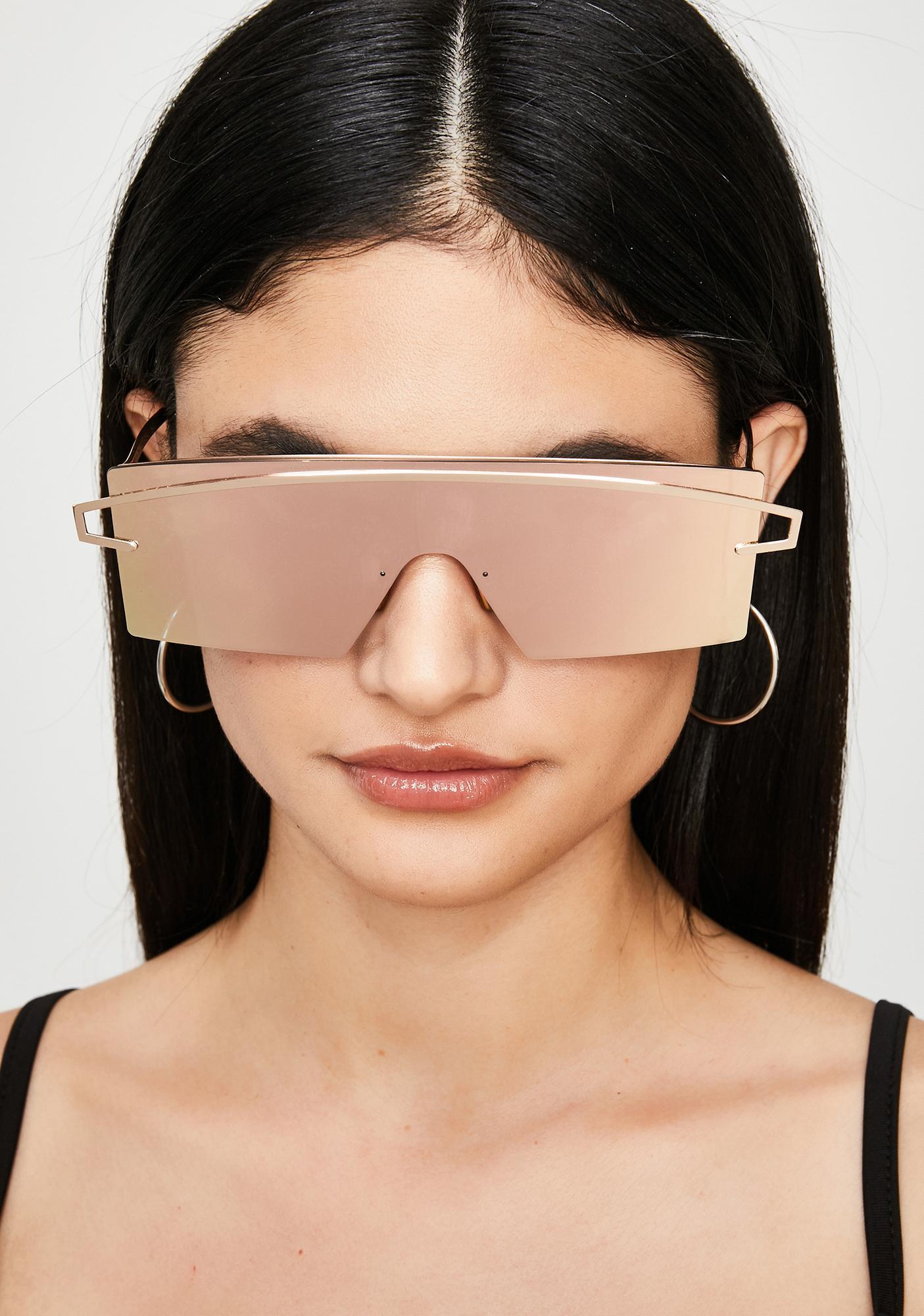 Galactic Glow Shield Sunglasses