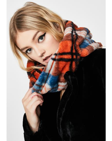 Plaid Baesic Bish Infinity Scarf