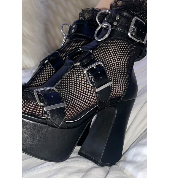 Current Mood Midnight Mood Buckle Heels