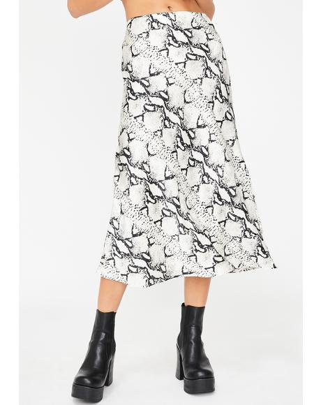 Poisonous Flow Midi Skirt