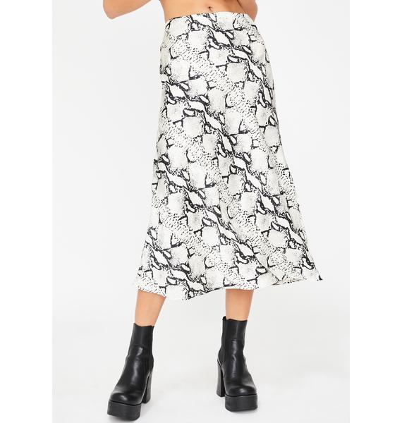Poisonous Flow Midi Skirt