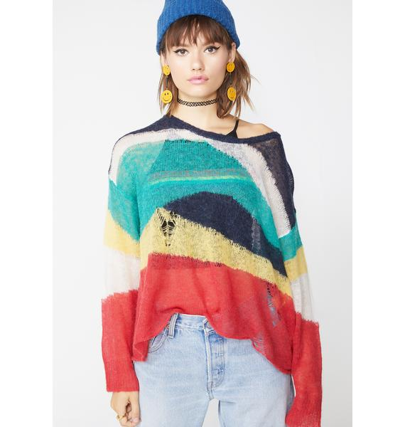 Wildfox Couture Wave Length Marvel Sweater