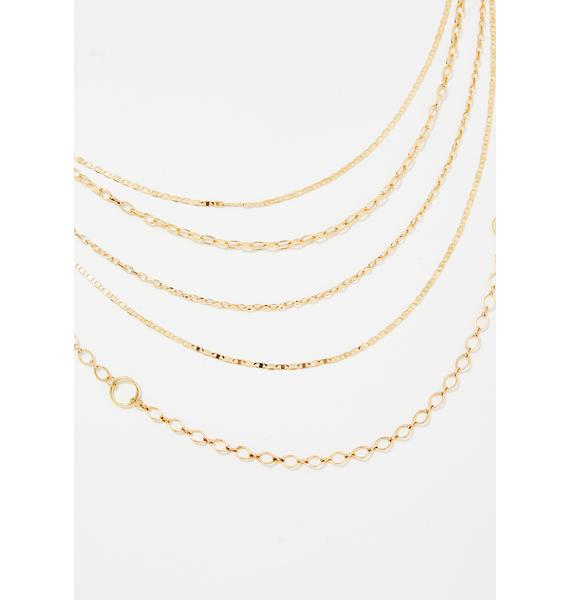 Goldie Hold Up Chain Necklace
