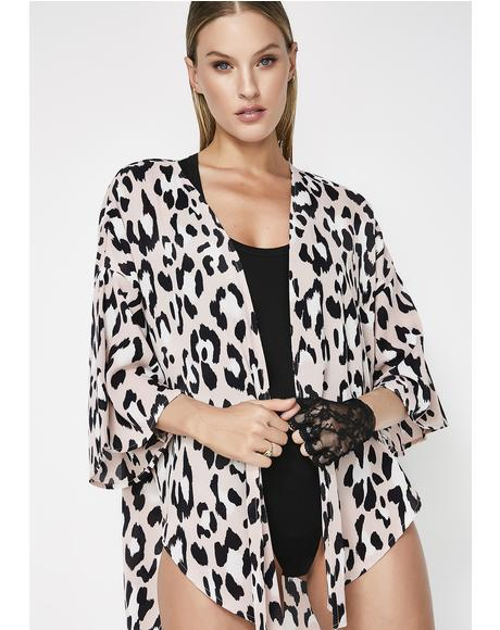 Roam Wild Leopard Kimono