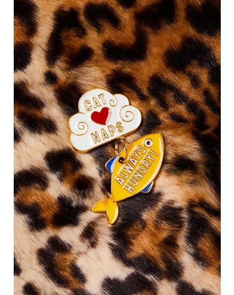 Cat Naps Pin N' Tag Set
