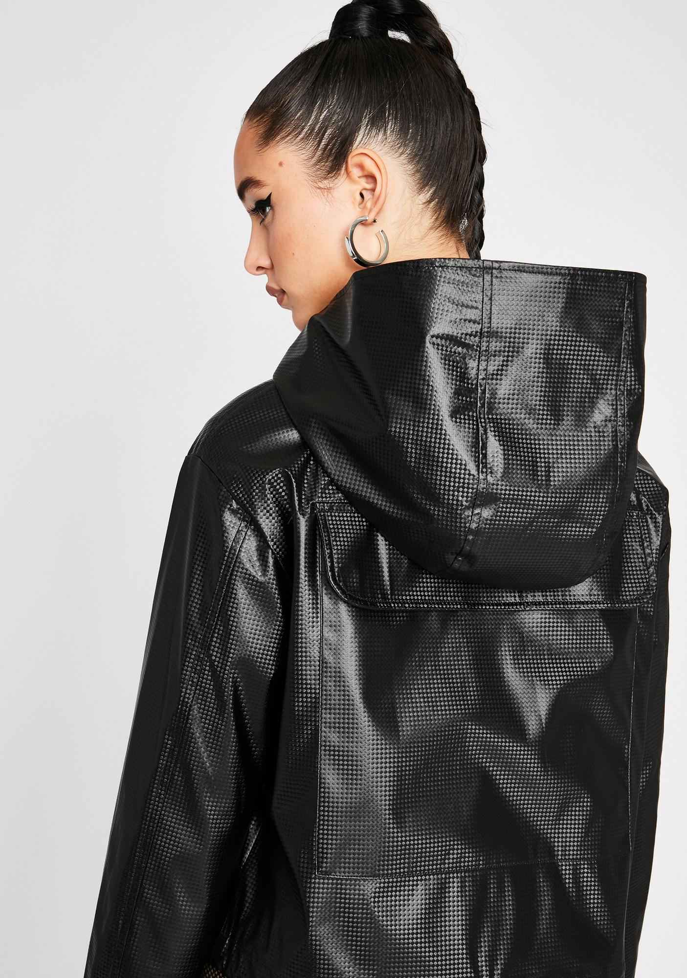 Poster Grl Secure The Bag Cropped Windbreaker