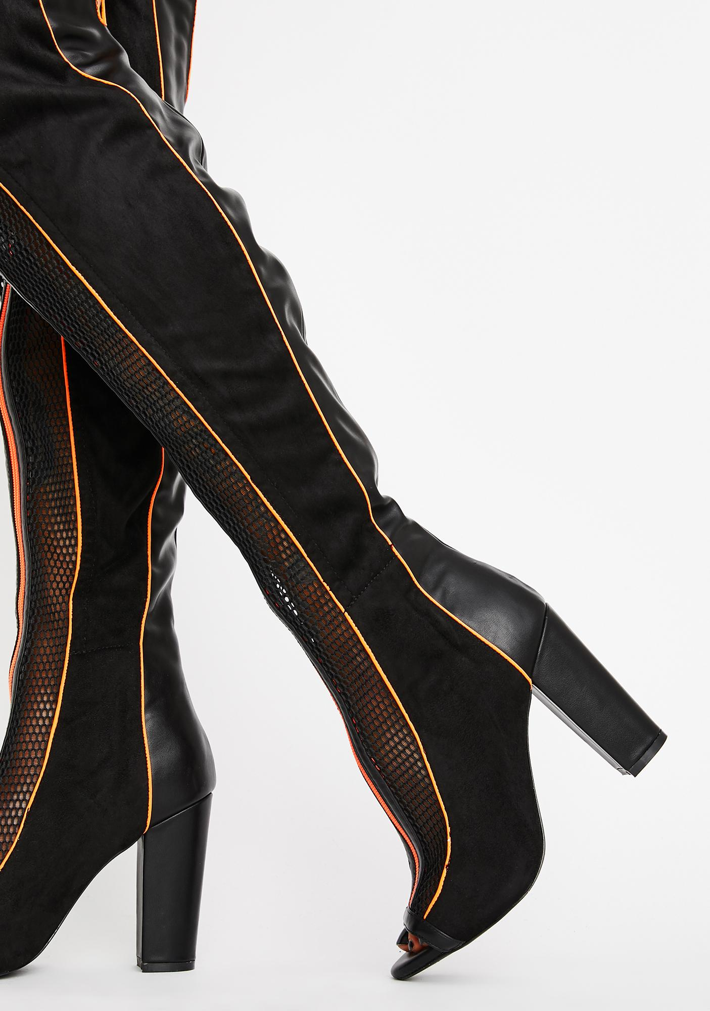 Deadly Obsession Thigh High Boots