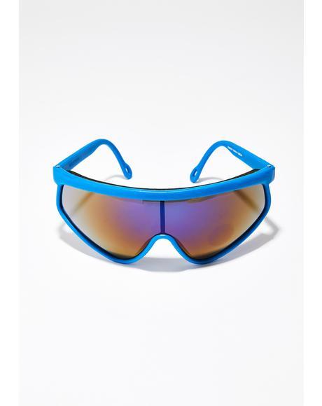 Sapphire Space Bass Sunglasses