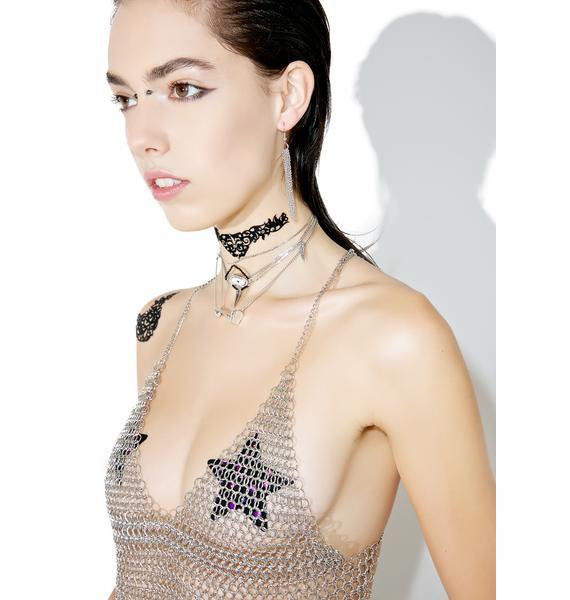 Black Lace Skin Jewelry Amorous Body Jewelry