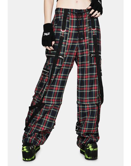 Strap To Strap Plaid Pants