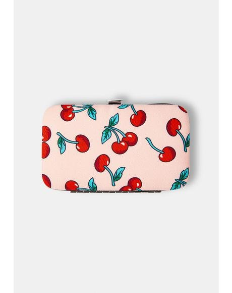 Cherry Manicure Purse Set