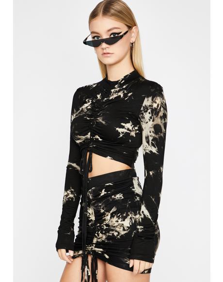 Storm Twisted Fling Ruched Skirt Set