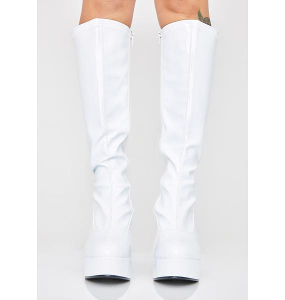 Funtasma Icy She's Scary Sexxxy Patent Boots