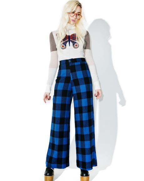 Plaid Woody Wide Leg