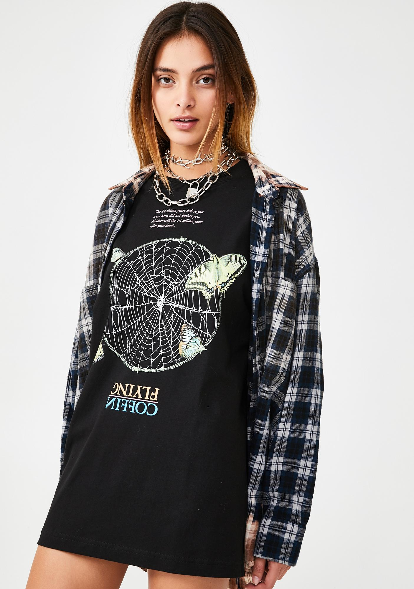Flying Coffin Web Graphic Tee