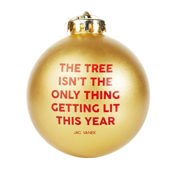 Jac Vanek Lit Tree Ornament