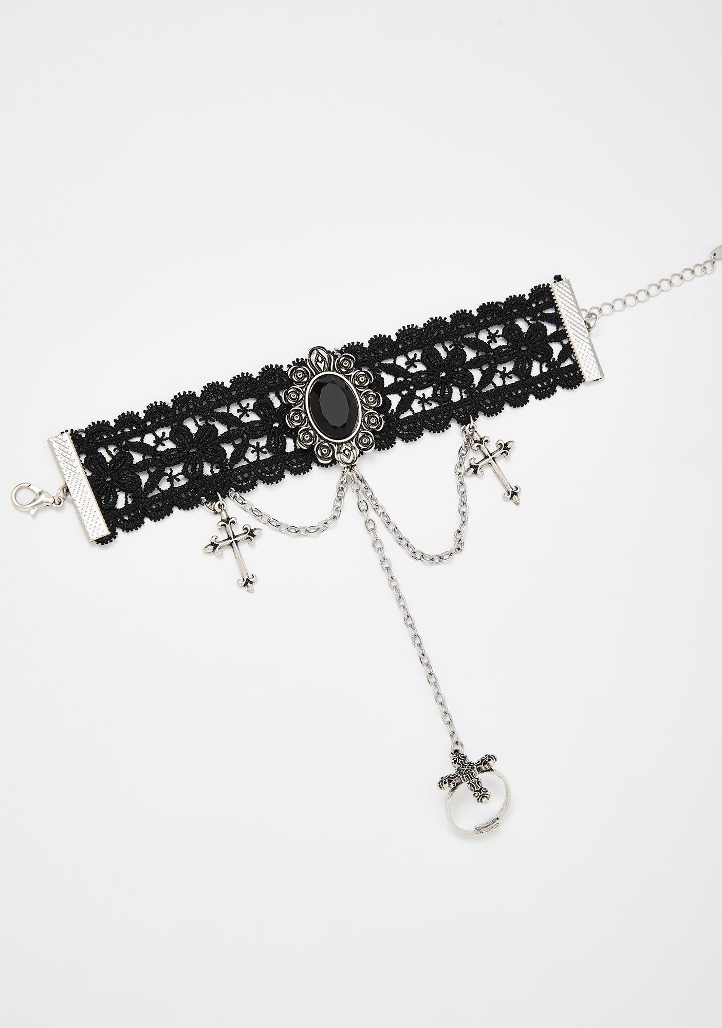 Reaching Oblivion Lace Bracelet