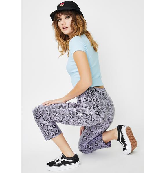 Daisy Street Vegan Leather Snakeskin Pants