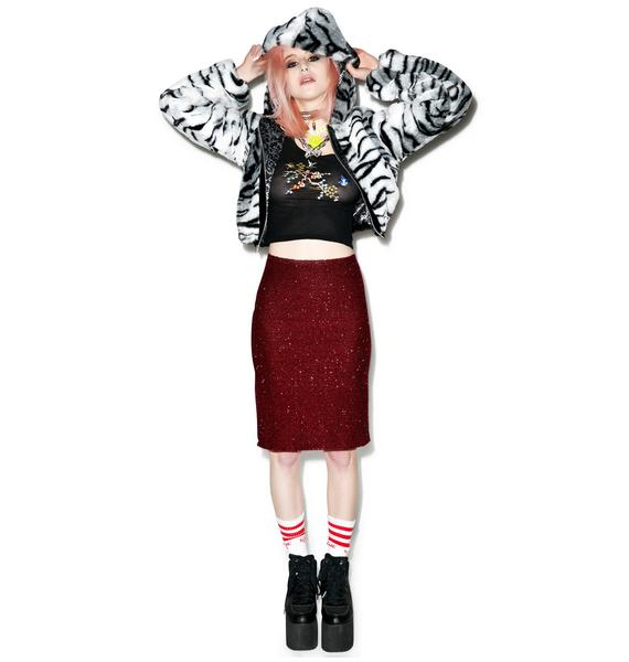 American Deadstock Fuzzy Wuzzy Midi Skirt