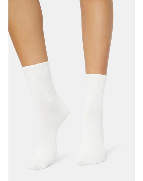 Never Change Ribbed Crew Socks