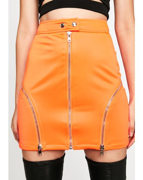 Juicy Blinding Attraction Moto Skirt