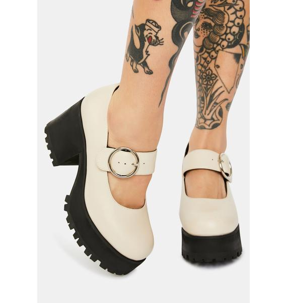 Current Mood Ivory Damnation Platform Mary Janes
