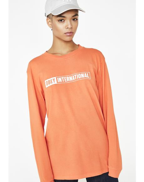 Obey International Long Sleeve Tee