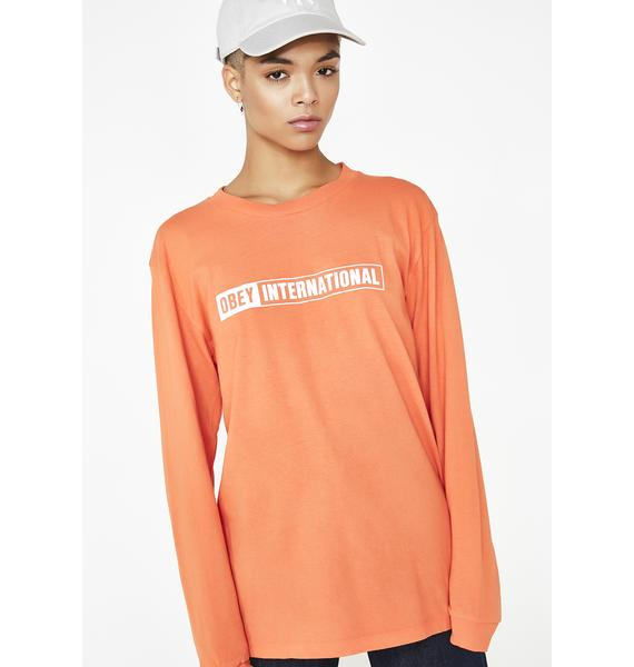 Obey Obey International Long Sleeve Tee