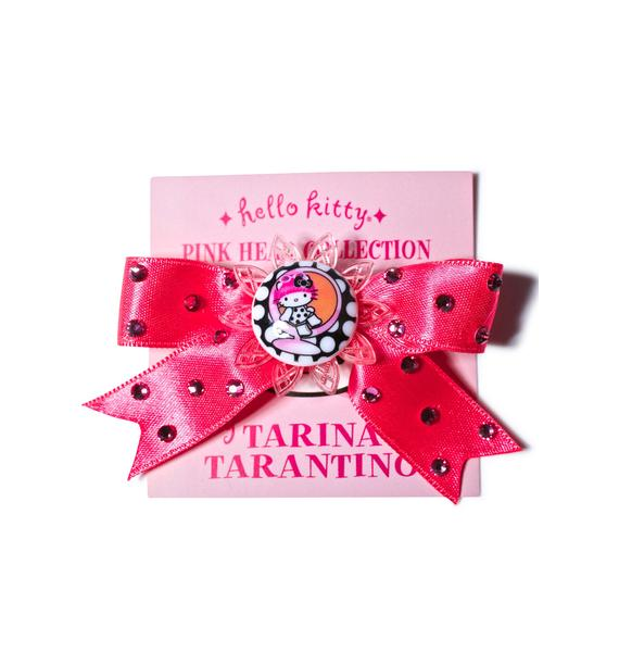 Tarina Tarantino Sitting Kitty Satin Bow Clip