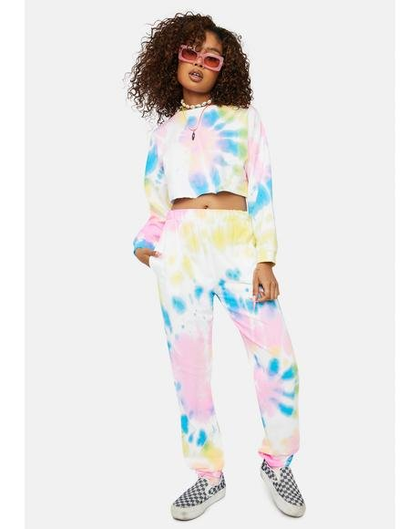 Candy Speak No Evil Tie Dye Lounge Set