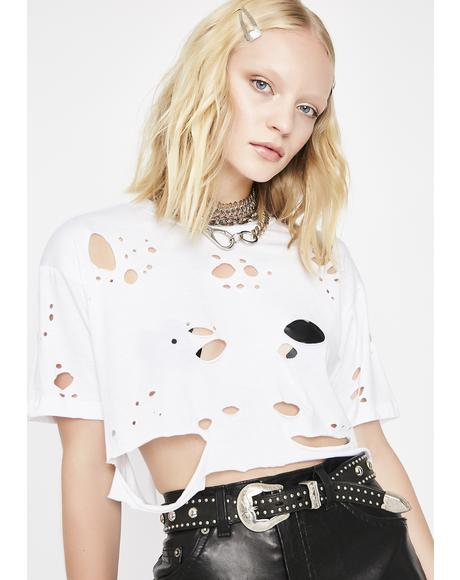 Pure Holy Smokes Distressed Top
