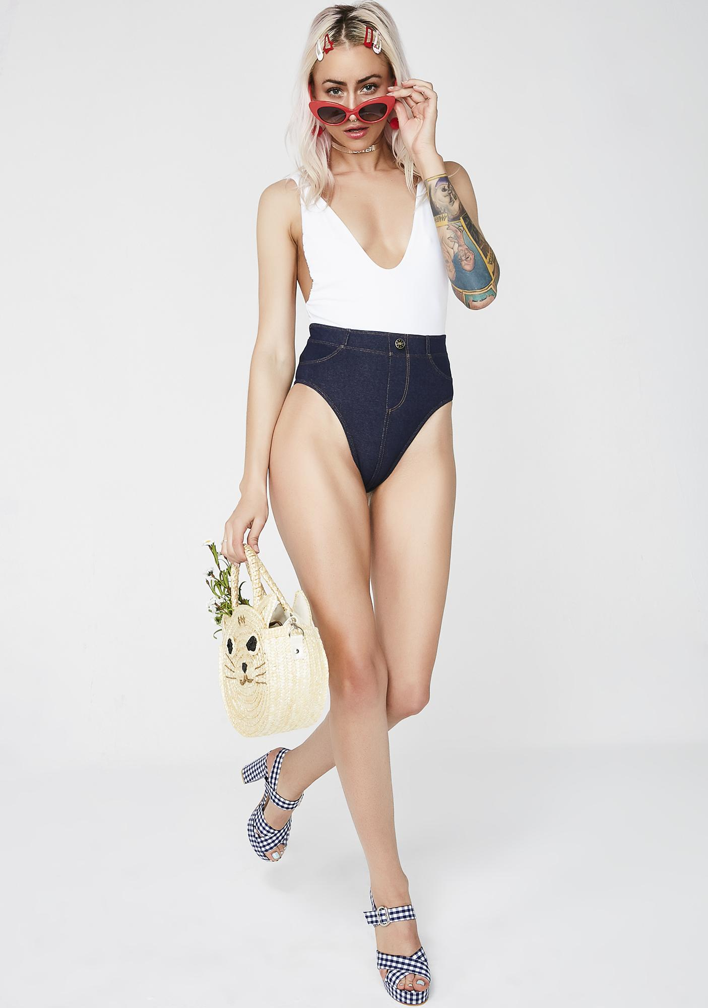 Chloe Rose Swimwear Blue Jean Baby One Piece