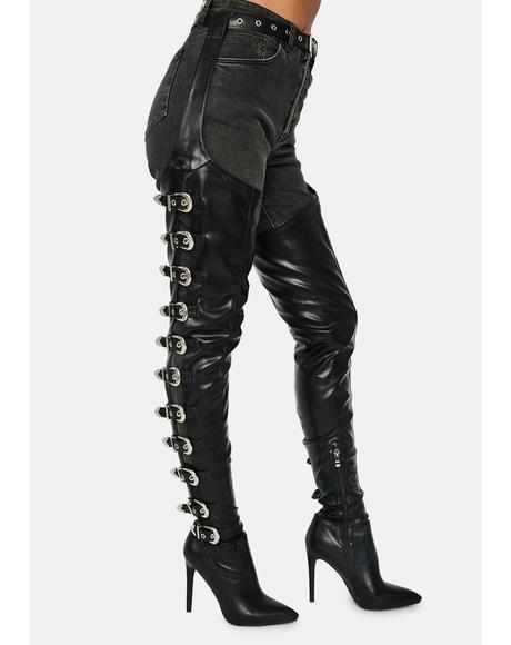 Asap Thigh High Chap Boots