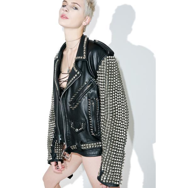Hazmat Design Vintage Deadstock Pentagram Leather Jacket