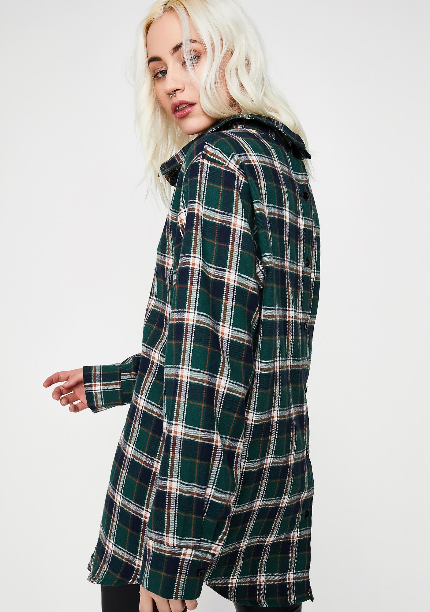 Dank Rude Renegade Flannel Shirt