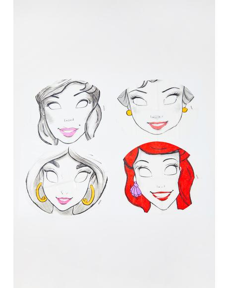 Disney Princesses Face Mask Set