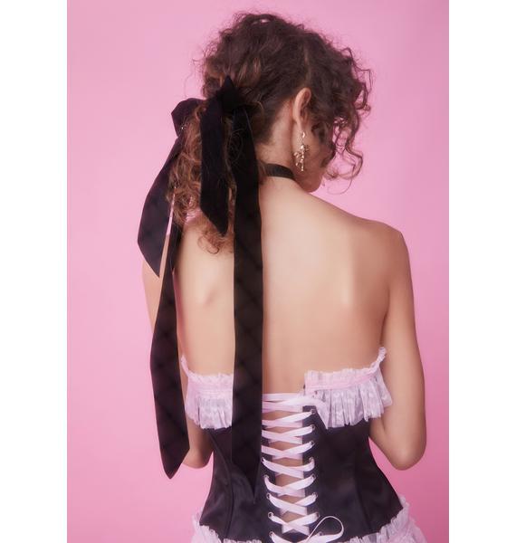 Velveteen Magic Bow Hair Clip
