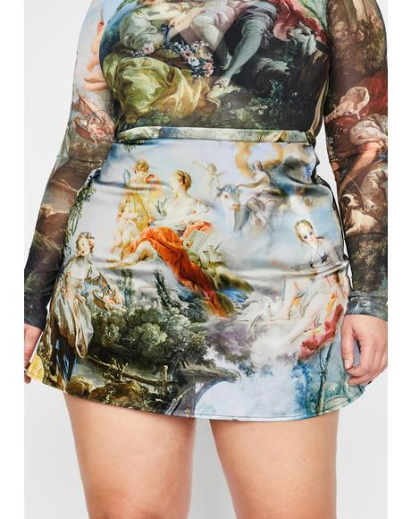 Divine Da Vinci's Demons Mini Skirt